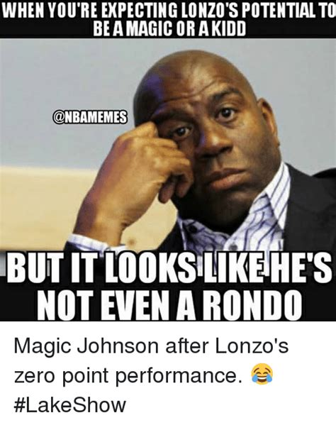 Magic Johnson Meme - when you re expecting lonzo s potential to be a magic or akidd but it lo0ks likehe s not even a