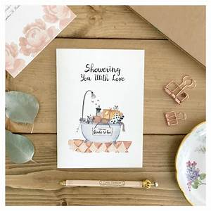 bridal shower card bridal shower gift card for bride cute With images of wedding gift cards