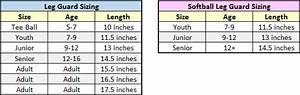 Softball Catchers Gear Sizing Chart Catcher 39 S Equipment Fitting Guide