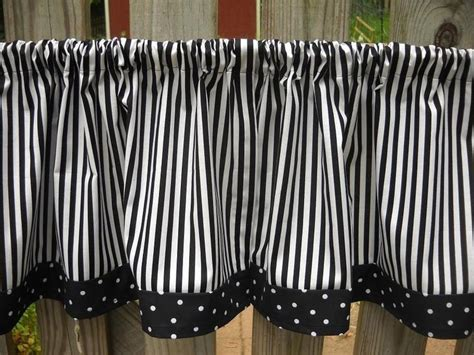 Black And White Valance by Valance Curtains Black And White Stripe And Polka Dot