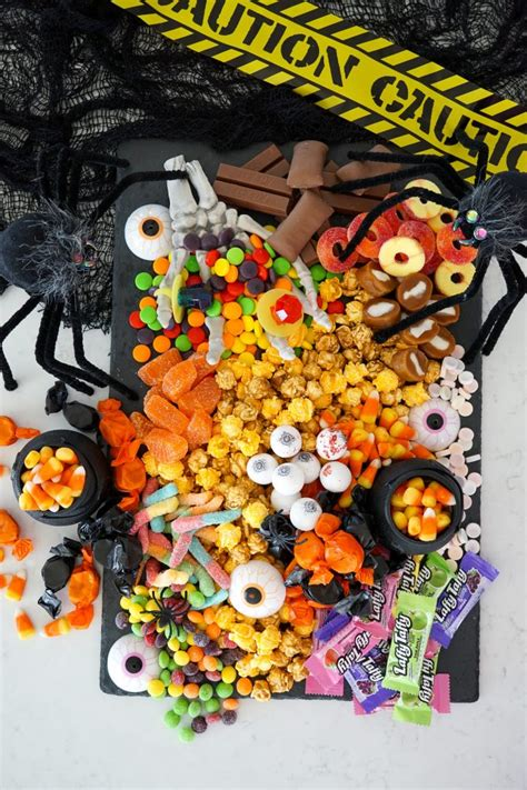 halloween candy chartcuterie board rebecca propes design