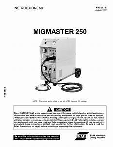 Migmaster 250 Welding Packages Instructions For F