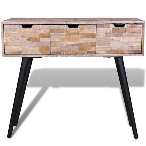Wood Console Table Reclaimed Teak Lovdockcom