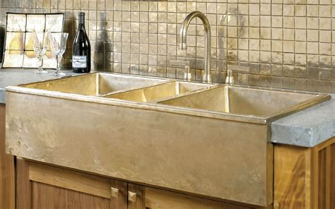 brass kitchen sink farmhouse sink ks4422 rocky mountain hardware 1778