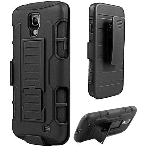 shop insten black hard pc silicone dual layer hybrid case
