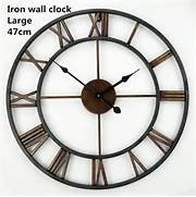 Wall Clocks Large by Handmade Oversized 3D Retro Roman Wrought Iron Vintage Large Decorative Wall