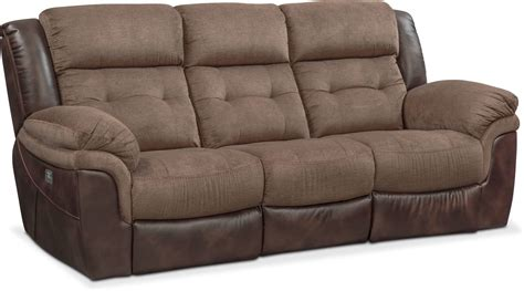 Loveseat Power Recliner by Tacoma Dual Power Reclining Sofa And Loveseat Set Brown