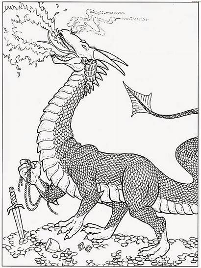 Dragon Coloring Pages Fire Dragons Printable Wings