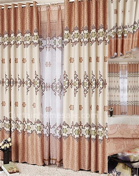 Window Drapes On Sale - happy leaf and floral pattern printing balcony and living
