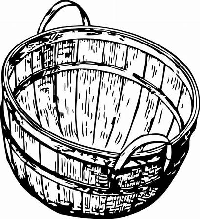 Basket Clip Bushel Svg Clipart Apples Picking