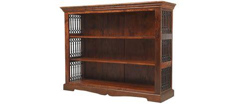 Jali Sheesham Low Bookcase  Quercus Living