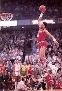 """Julius """"Dr. J.""""Erving: the first to do a Free Throwline ..."""