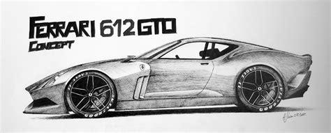 ferrari enzo sketch car sketch world with eraser