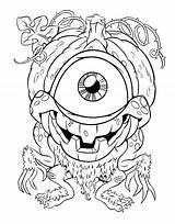 Eye Coloring Printable Fireball Eyeball Getcolorings Getdrawings sketch template