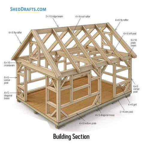Post And Beam Shed Plans by 14 215 20 Post Beam Barn Shed Plans Blueprints For Assembling
