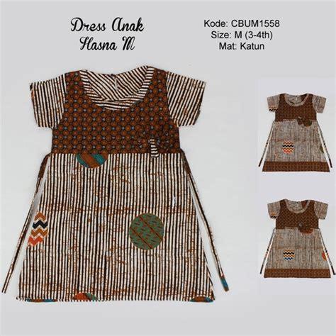 dress batik anak hasna motif garis  dress murah