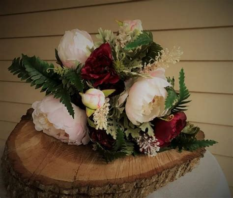 blush pink  burgundy peony bridal keepsake wedding