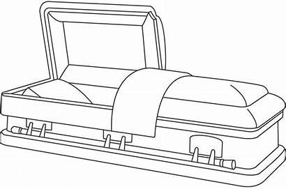 Coffin Casket Funeral Clipart Drawing Transparent Webstockreview