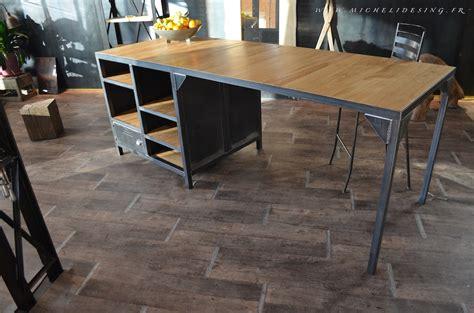 meuble cuisine central ilot central de cuisine sur mesure micheli design