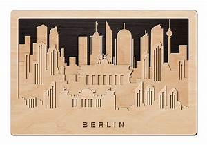 Schriftzüge Aus Holz : 3d wandbild aus holz skyline berlin einfach pers nlich schenken ~ Frokenaadalensverden.com Haus und Dekorationen