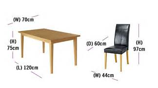 Dining Table Chair Measurements by Introduction To Dining Furniture Buying Guide At Your Guide To