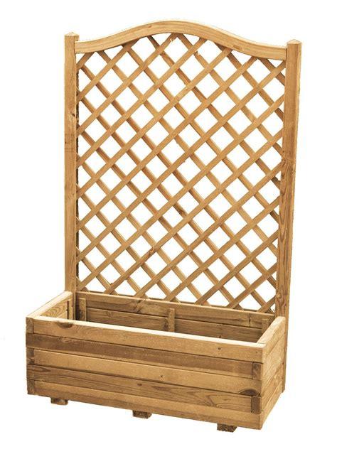 traliccio legno fioriera impregnata con traliccio tondo 90x36x135 cm