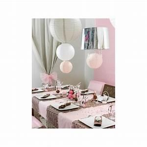 Boule Papier Deco : lanterne boule chinoise papier rose 50 cm ~ Teatrodelosmanantiales.com Idées de Décoration