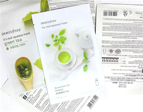 Harga Innisfree My Real Squeeze Mask review new 2017 innisfree my real squeeze mask green tea