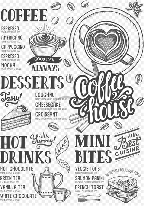 coffee tea cafe hamburger menu coffee shop menu png