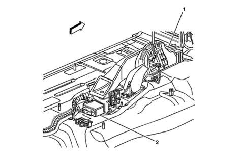 airbag deployment 2008 gmc sierra on board diagnostic airbag module location fixya
