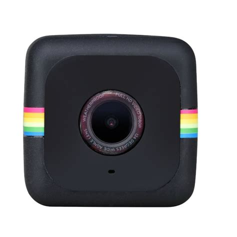 polaroid cube hd action camera black