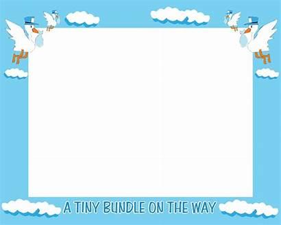 Borders Shower Border Boy Frames Clipart Clip