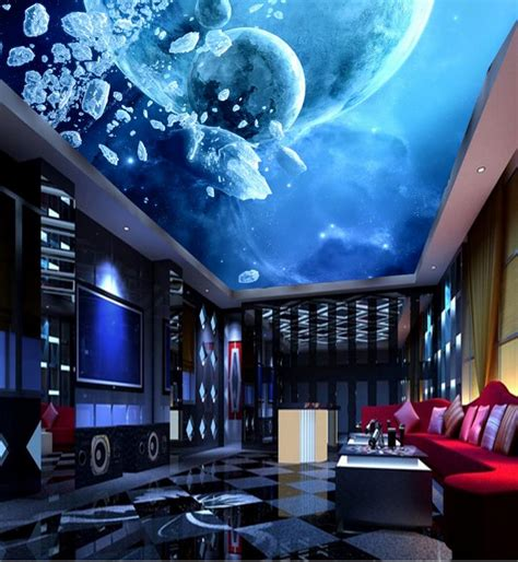 3d Galaxy Wallpaper For Ceiling by 3d Wall Ceiling Wallpaper Home Decor Galaxy Photo