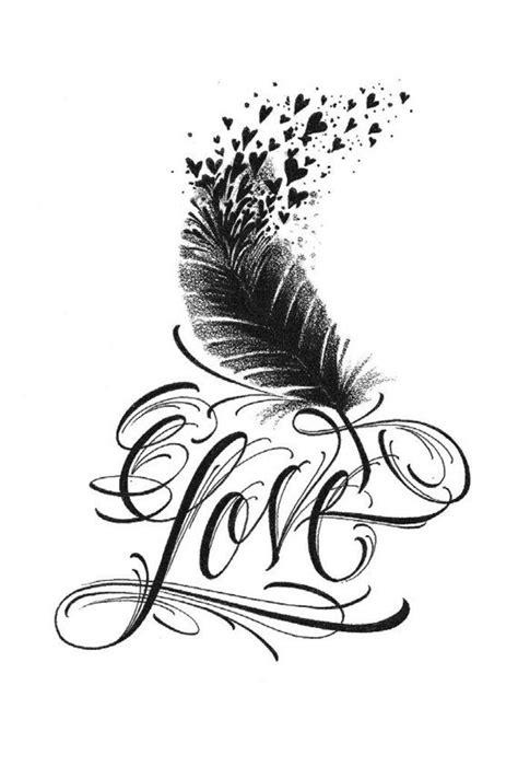 petit amour plume oiseau tatouage temporaire par