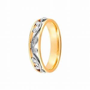 alliance de mariage 2 ors et diamant 11770687 With alliance mariage bijouterie