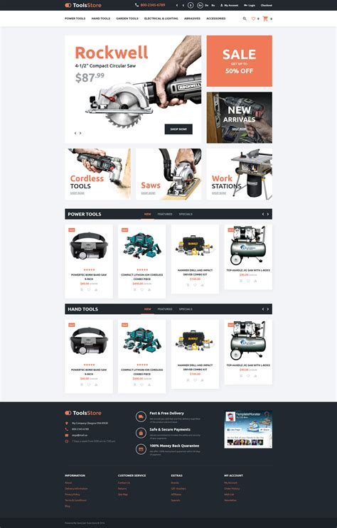 opencart bookstore template tool store opencart template