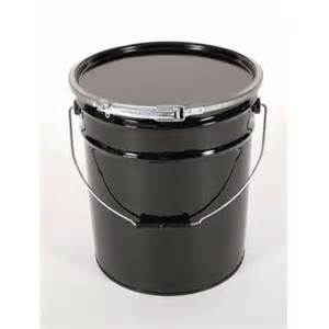 Basco 3 gallon steel pail with plain cover black, Price/Each