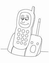 Coloring Phone Cell Phones Printable Popular Getdrawings Getcolorings sketch template