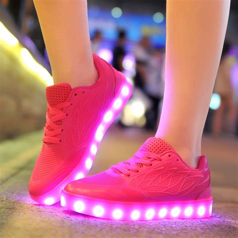 neon light up shoes 2016 light up led luminous shoes recharge for