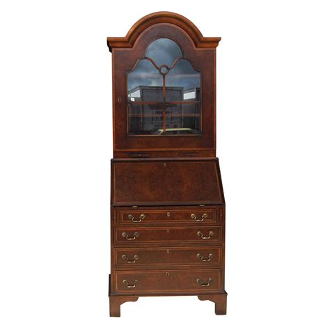 drop leaf desk with hutch vintage drop leaf rosewood walnut secretary desk