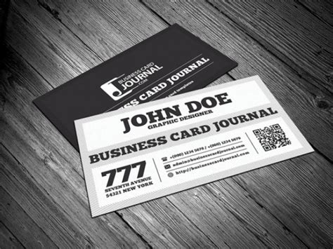 Black And White Business Card Template Psd File