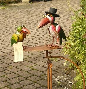 Windspiel Garten Metall : gartenstecker wippe windspiel rabe raben vogel mit hut ~ Lizthompson.info Haus und Dekorationen