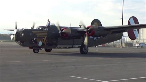 """B-24 Liberator """"Witchcraft"""" start-up and take off - YouTube"""