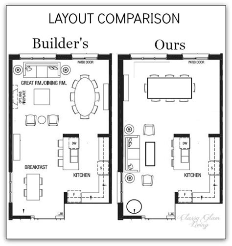 kitchen dining family room floor plans new house inspirations for transitional living room 9361
