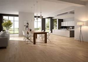 cuisine carrelage salon parquet With salon carrelage imitation parquet