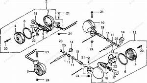 Honda Motorcycle 1979 Oem Parts Diagram For Turn Signal Ii