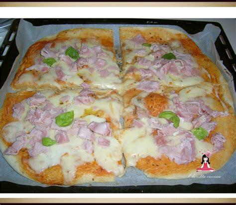 pizza pizza al prosciutto pizza ricetta pizza  casa