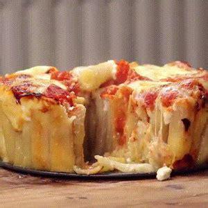 recette tarte aux pates incroyable recette de tarte aux p 226 tes rigatoni facile et rapide giffood