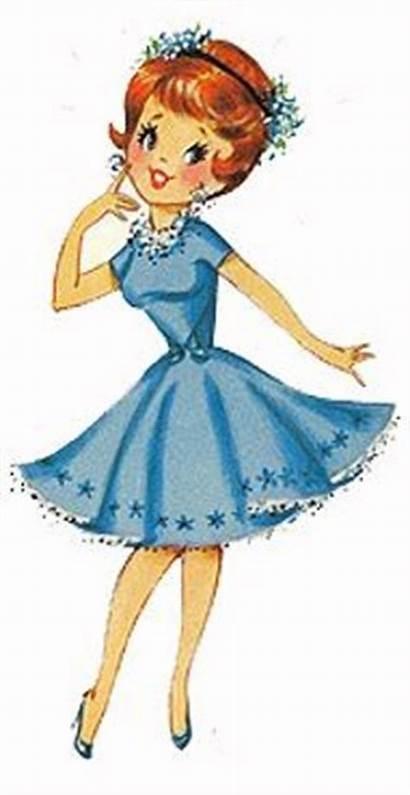 Clip Clipart Lady Pretty Woman Drawing Cartoon
