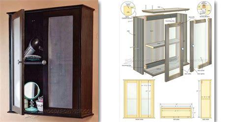 bathroom wall cabinet plans woodarchivist
